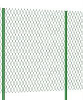 Забор из сетки Рабицы оцинкованная 1,5 метра высотой с Монтажом