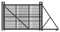 Откатные ворота с сеткой Гиттер 1,9 х 4 метра