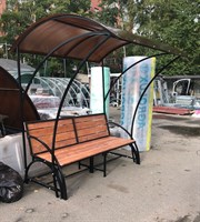Стол-скамья трансформер с крышей