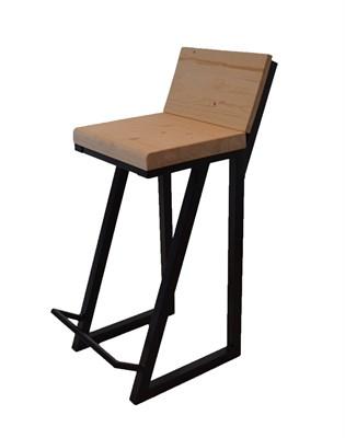 Полубарный стул со спинкой Лофт - фото 10285