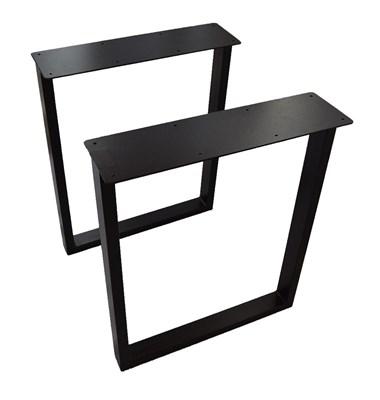 Подстолье для стола из металла 60х30 мм. с пластиной в стиле Лофт G-5 720 х 590 мм. - фото 10447