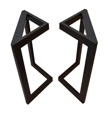 Подстолье для стола из металла 60х30 мм. в стиле Лофт G-3, 720 х 600 мм. - фото 10476