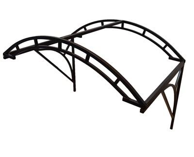 Козырек Арочный 1,4 метра шириной - двойная дуга - фото 10872