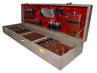 """Набор для пикника и шашлыка подарочный в кейсе """"Элит 14"""" - фото 10911"""