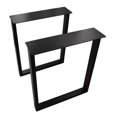 Подстолье для стола из металла 40х20 мм. с пластиной в стиле Лофт G-5 900 х 590 мм. - фото 11545