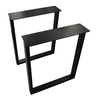Подстолье для стола из металла 40х20 мм. с пластиной в стиле Лофт G-5 1050 х 590 мм. - фото 11553