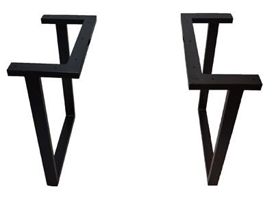 Подстолье для стола из металла 60х30 мм. в стиле Лофт G-2 900 х 590 мм. - фото 11602
