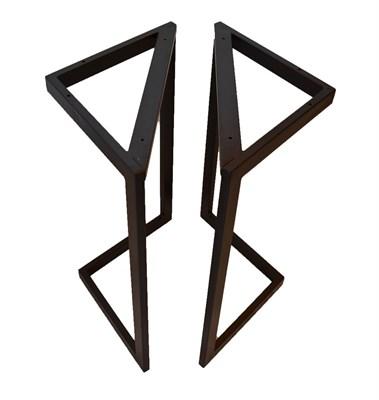 Подстолье для стола из металла 40х20 мм. в стиле Лофт G-4, 900 х 600 мм. - фото 11675