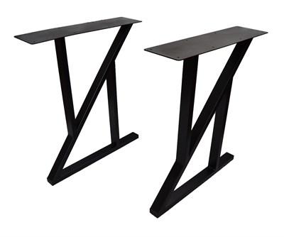 Подстолье для стола из металла 50х25 мм. с пластиной в стиле Лофт-Z G-7 720 х 590 мм. - фото 11721