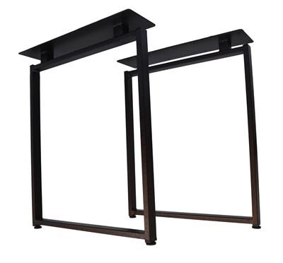 Подстолье для стола из металла 40х20 мм. с пластиной в стиле Лофт G-8 720 х 590 мм. - фото 11746