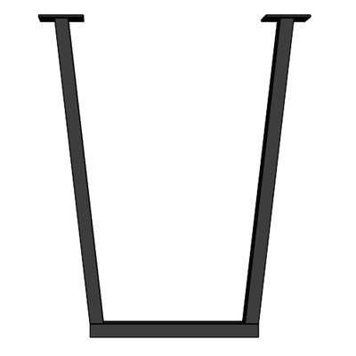 Подстолье для стола из металла 40х20 мм. Опора в стиле Лофт-Трапеция G-11 720 х 580 мм. (1 шт.) - фото 11862