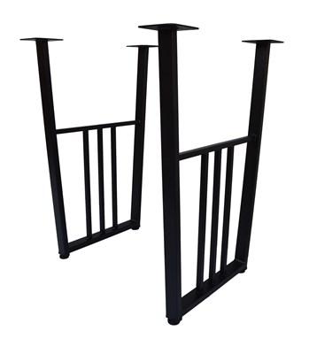 Подстолье для стола из металла 40х20 мм. в стиле Лофт-Трапеция Классик G-14 720 х 560 мм. - фото 11909