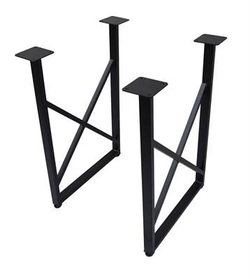 Подстолье для стола из металла 40х20 мм. в стиле Лофт G-X в рамке 720 х 560 мм. - фото 11930