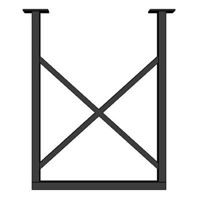 Подстолье для стола из металла 40х20 мм. Опора в стиле Лофт G-X в рамке 720 х 560 мм. (1 шт.) - фото 11946
