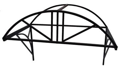 Козырек над крыльцом арочный 1,5 метра. Классик G-3 Усиленный - фото 12015