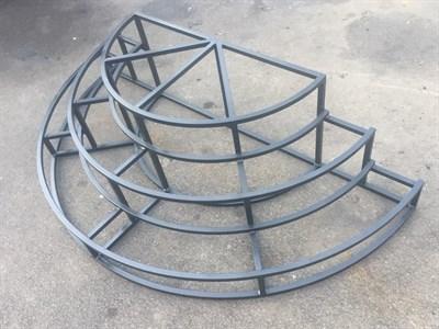 Крыльцо полукруглое 3 ступени - фото 7455