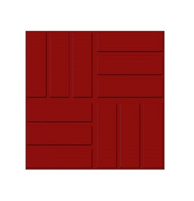 Плитка тротуарная полимерпесчаная садовая 330 х 330 х 40 мм красная - фото 7589