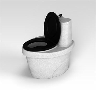 Туалет торфяной «Rostok» белый гранит - фото 7682