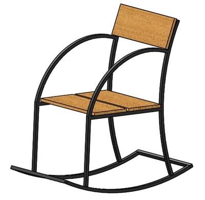 Кресло качалка - фото 7696