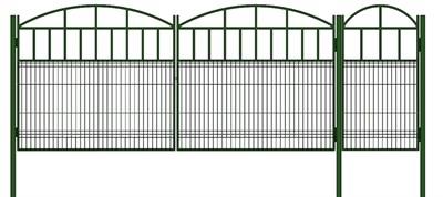 Ворота с калиткой комплект 3,5 + 0,8 метра - фото 8395