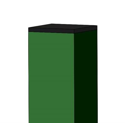 Столб 3 метра . 50 х 50 мм крашенный - фото 8420