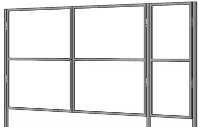 Каркас Ворот с калиткой 3,5 метра и 0,9 метра шириной - фото 8438