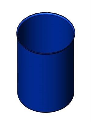 Бочка синяя 220 литров б/у - фото 8471