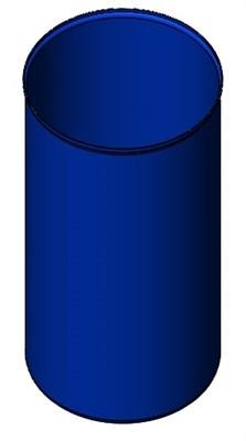 Бочка синяя 178 литров б/у - фото 8479