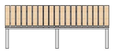 Садовая Скамейка прямая со спинкой 2 метра - фото 8519