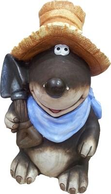 Садовая фигура Крот в шляпе 45 х 25 х 27 см. - фото 8641