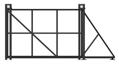 Откатные ворота Каркас Эконом 1,9 х 4 метра - фото 8658