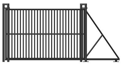 Откатные ворота с Проф.Трубой 1,9 х 4 метра - фото 8679