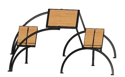 Стол-скамья трансформер - фото 9188