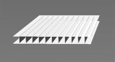 Сотовый поликарбонат 4 мм Молочный 2,1 х 6 метров - фото 9195