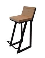 Полубарный стул со спинкой Лофт