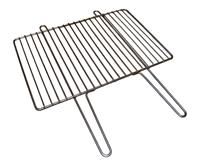 Решетка Гриль нержавейка 4-6 мм, решетка барбекю с ручками, 495 х 330 мм.
