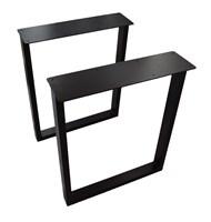 Подстолье для стола из металла 60х30 мм. с пластиной в стиле Лофт G-5 720 х 590 мм.