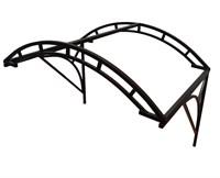 Козырек Арочный 1,4 метра шириной - двойная дуга