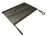 Решетка чугунная для гриля в рамке 560 х 370 мм.