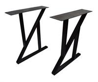 Подстолье для стола из металла 50х25 мм. с пластиной в стиле Лофт-Z G-7 720 х 590 мм.