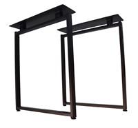 Подстолье для стола из металла 40х20 мм. с пластиной в стиле Лофт G-8 720 х 590 мм.