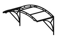 Козырек над крыльцом арочный 2 метра с двойной фермой G-2 Усиленный