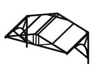 Козырек над крыльцом Домиком 1,5 метра. Классик G-4 Усиленный