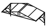 Козырек над крыльцом Домиком 2 метра. Классик G-4 Усиленный