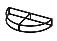 Крыльцо - площадка к дому Полукруглая 1 ступень - каркас