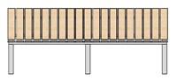 Садовая Скамейка прямая со спинкой 2 метра