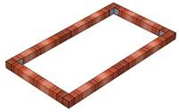 Фундамент Брус на парник Кабриолет 1,1 х 2 метра
