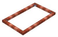 Фундамент Брус на парник Кабриолет 1,2 х 2 метра