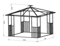 Беседка квадратная 3 х 3 метра
