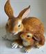 Садовая фигура Зайчиха с зайчонком 27 х 30 х 20 см. - фото 8596